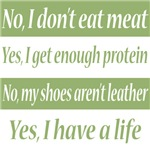 No, I don't eat meat