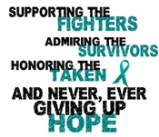 Support Admire Honor Cervical Cancer Shirts