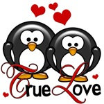 True Love Penguin Valentines