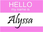 Hello My Name Is Alyssa