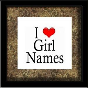 I Heart Girl Names