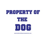 Property of the Dog Navy Text