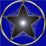 Golden 5 Point Star