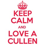 Keep Calm and Love A Cullen (red)