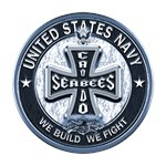 US Navy Seabees Cross Blue