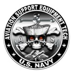 USN Aviation Support Equipment Tech Skull