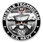 USN Missile Technician Skull MT