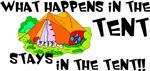 What happens in the tent...