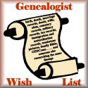 Genealogy Wish List