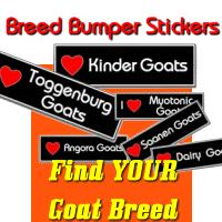 Goat Breed Bumper Stickers