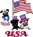 USA Patriotic Pugs