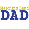 Marching Band Dad - Blue & Gold