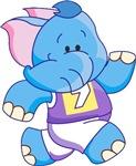 Lil Blue Elephant Runner