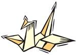 Ukiyo-e - 'Origami Bird'