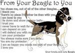 A Beagle's letter