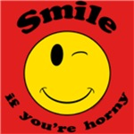 Smile If Horny Apparel