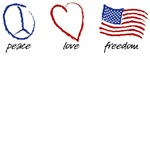 Peace, Love, Freedom T-Shirt