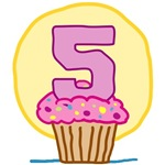 5th Birthday Cupcake T-Shirts