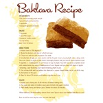 Baklava Recipe T-Shirts