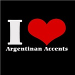 i love heart argentian accents