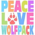 Peace Love Wolf Pack