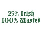25% Irish 100% Wasted