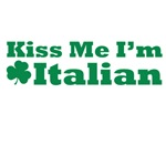 Kiss Me I'm Italian St. Patrick's Day Irish Tee