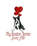 Boston Terrier - My Boston Terrier Loves Me
