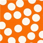 Bright Orange Polka Dots
