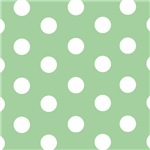 Mint Green Polka Dots