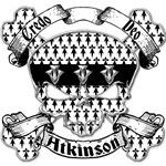 Atkinson Family Crest Skull