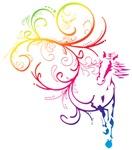 Rainbow Horse Flourish