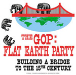 Republican Party is the FLAT EARTH Party