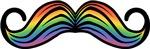 Rainbow Moustache