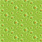 Pop Daisy Green Pattern