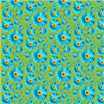 Pop Daisy Blue Pattern