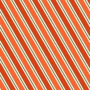 Orange Retro Stripe