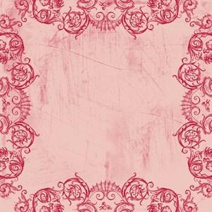 Pink Grotesquerie Border