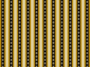 Ivory Black & Gold Stripe