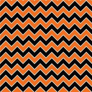 Halloween Chevron Stripe Pattern