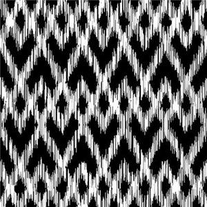 Ikat Pattern Black