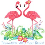 Personalized Flamingo Couple