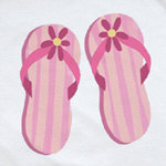 Pink Flip Flops T-shirt