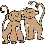 Cute Monkey Couple T-shirts