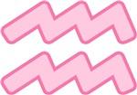 Pink Zodiac Symbol Aquarius