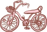 Retro Pink Bike T-shirts