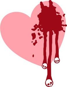 Skull Drips Heart