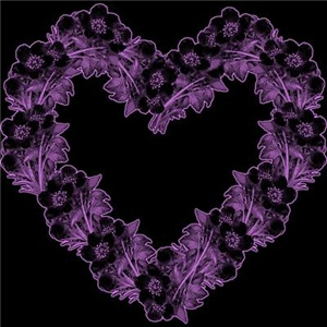 Gothic Purple Flower Heart