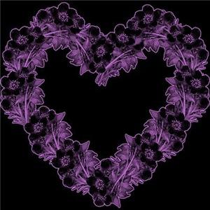 Gothic Purple Flower Heart