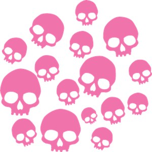 Random Pink Skulls